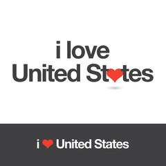 I love United States. Editable logo vector design.