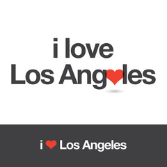 I love Los Angeles. City of United States of America. Editable logo vector design.