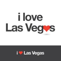 I love Las Vegas. City of United States of America. Editable logo vector design.