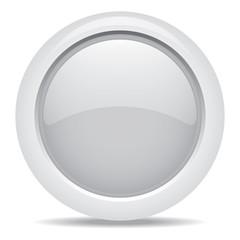 empty symbol icon luxury gray metal circle, business concept