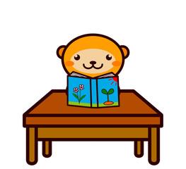 読書する動物シリーズ