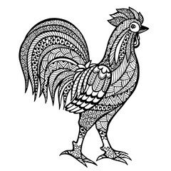Zentangle stylized  cock.