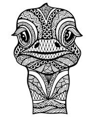 Zentangle stylized ostrich .
