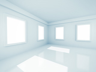 Empty Modern Room With Windows