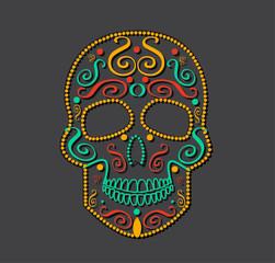 Skull vector background