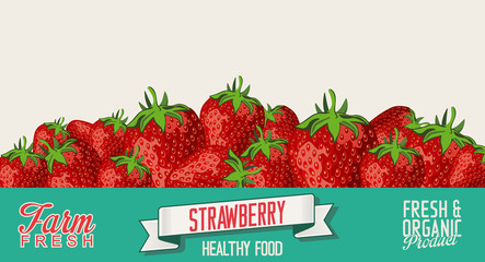 Strawberry retro vintage background
