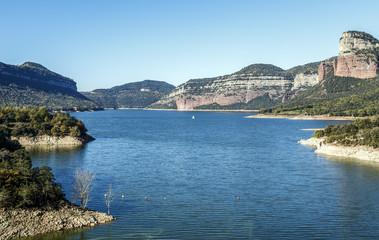 Lake Sau in Barcelona Spain Panoramic Photography