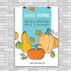 Autumn vector poster