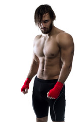 Fighter On White Background