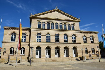 Foto auf Leinwand Oper / Theater View in the city of Coburg, Bavaria, region Upper Franconia, Germany