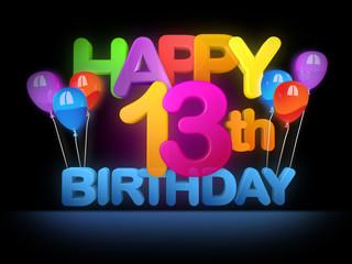 Happy 13th Birthday Title dark