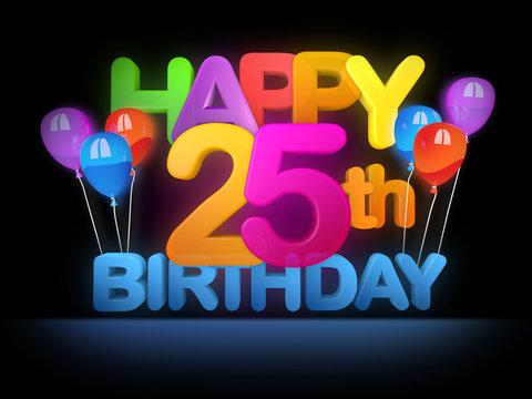 Happy 25th Birthday Title dark