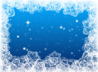 Blue Christmas background. New Year background. Winter card
