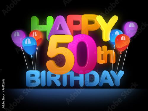 Happy 50th Birthday Title Dark