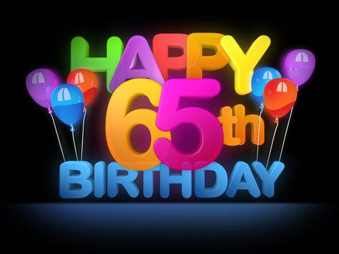 Happy 65th Birthday Title dark