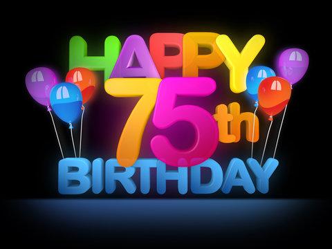 Happy 75th Birthday Title dark