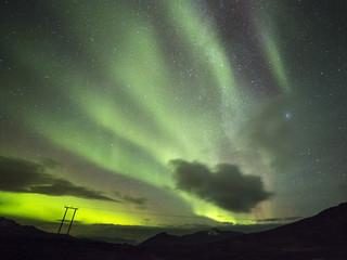 Polarlicht (aurora borealis) in Norwegen