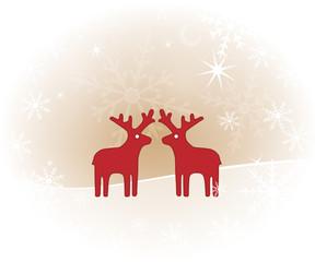 Weihnachtlicher Hintergrund mit Rentieren