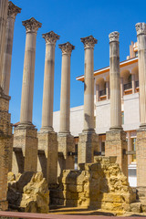 Roman columns of the second century before Christ in Cordoba, Spain