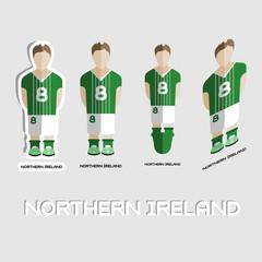 Northern Ireland Soccer Team Sportswear Template