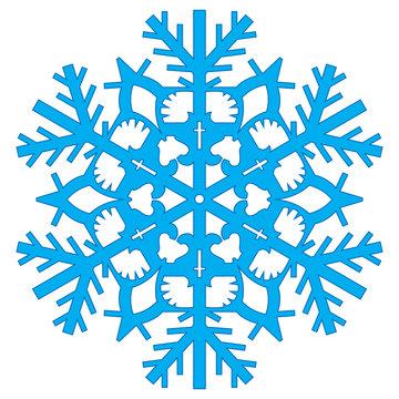 Winter snowflakes vector
