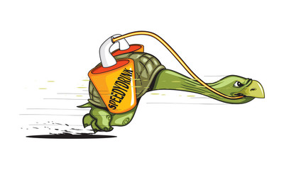 Fast Atletic Turtle Powered By Speed Energy Drink