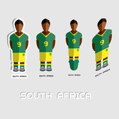 South Africa Soccer Team Sportswear Template