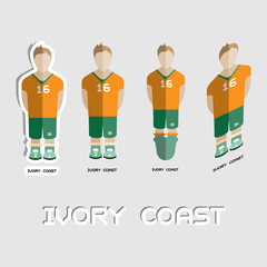 Ivory Coast Soccer Team Sportswear Template