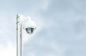 security camera (cctv) at sky before raining, leave space for ad