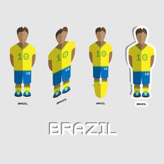 Brazil Soccer Team Sportswear Template