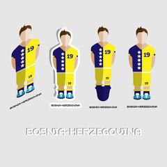 Bosnia-Herzegovina Soccer Team Sportswear Template