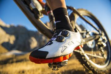Mountainbiking action extreme