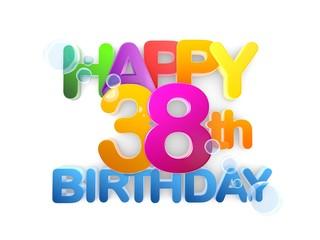 Happy 38th Title, Birthday light