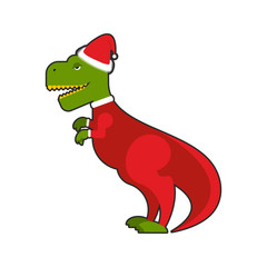 Santa Claus Tyrannosaurus. Christmas good dinosaur Christmas cos