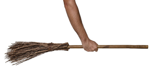 Held broomstick