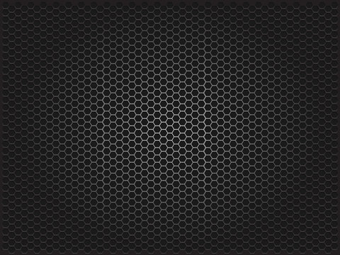 Metal background. Vector geometric pattern of hexagons.