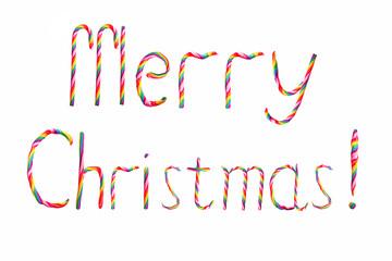 Christmas candy wish Merry Christmas!