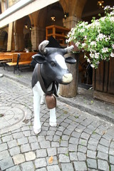 Cow statue at home