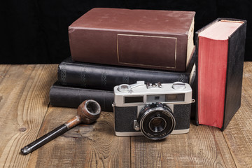 Old Camera With Pipe