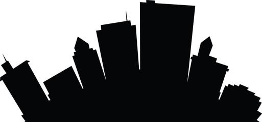 Cartoon skyline silhouette of the city of Dayton, Ohio, USA.