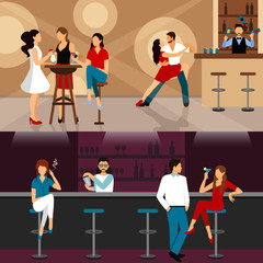 People Drinking In Bar