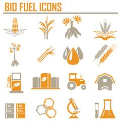 Vector bio fuels refinery plant , bio diesel , icons