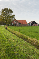 Old Dutch farm in autumn