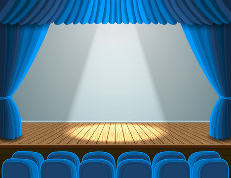 Spotlight on the theater stage