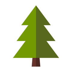 Fir-tree flat icon