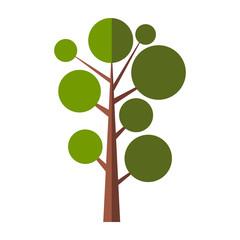 Nice tree flat symbol