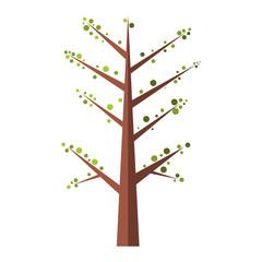 Spring Tree flat icon