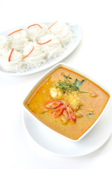 Crab meat curry