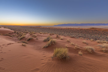 The dune after sunset