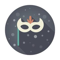 Christmas festive mask flat icon